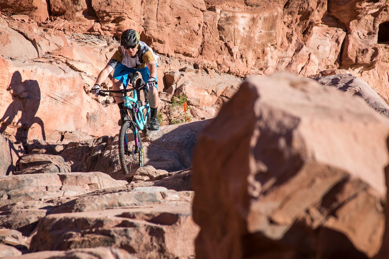 moab mountain biking chasing epic hymasa trail