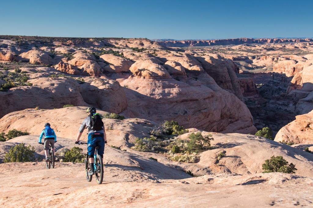 moab mountain biking slickrock trail chasing epic
