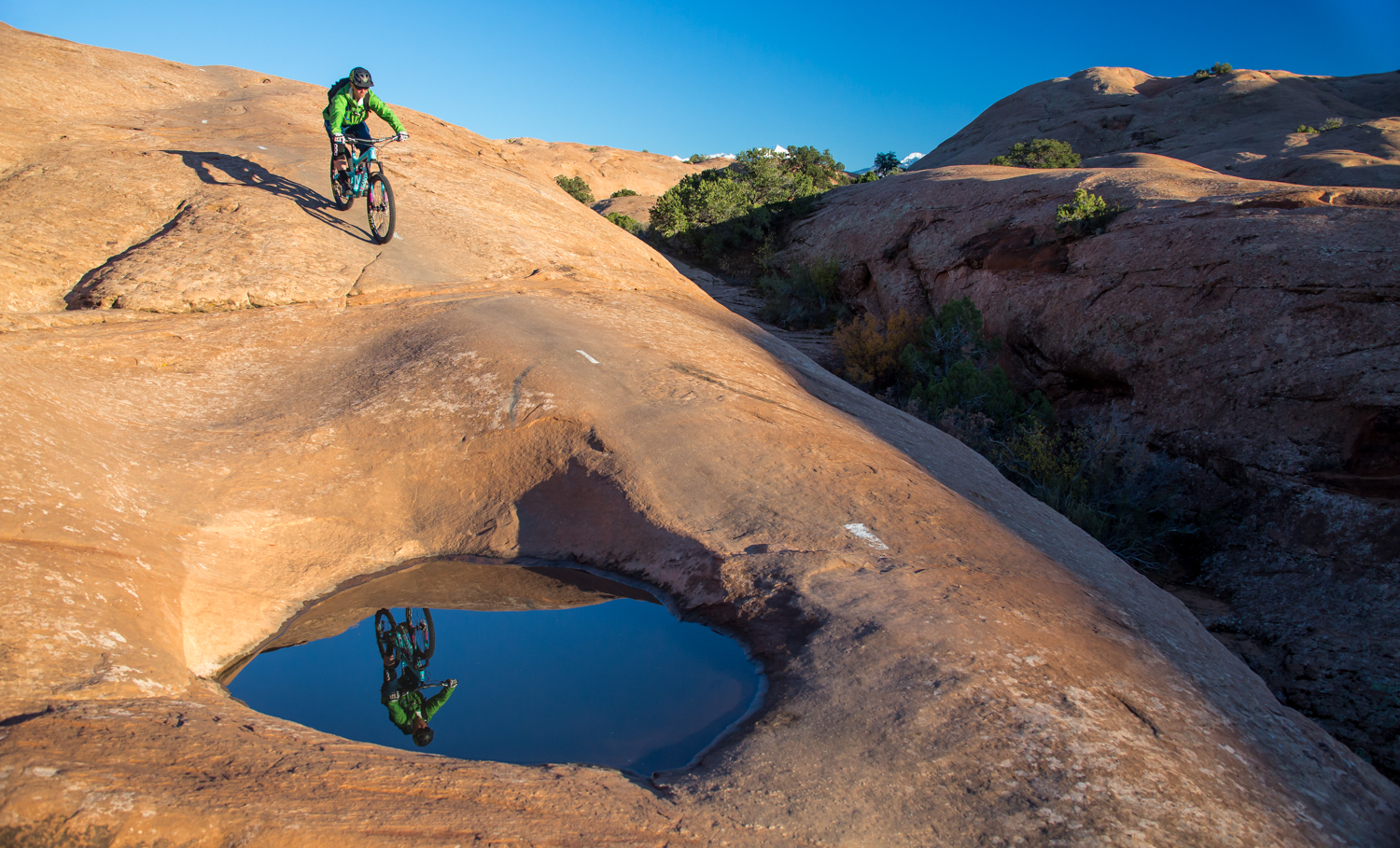 moab mountain biking slickrock trail chasing epic